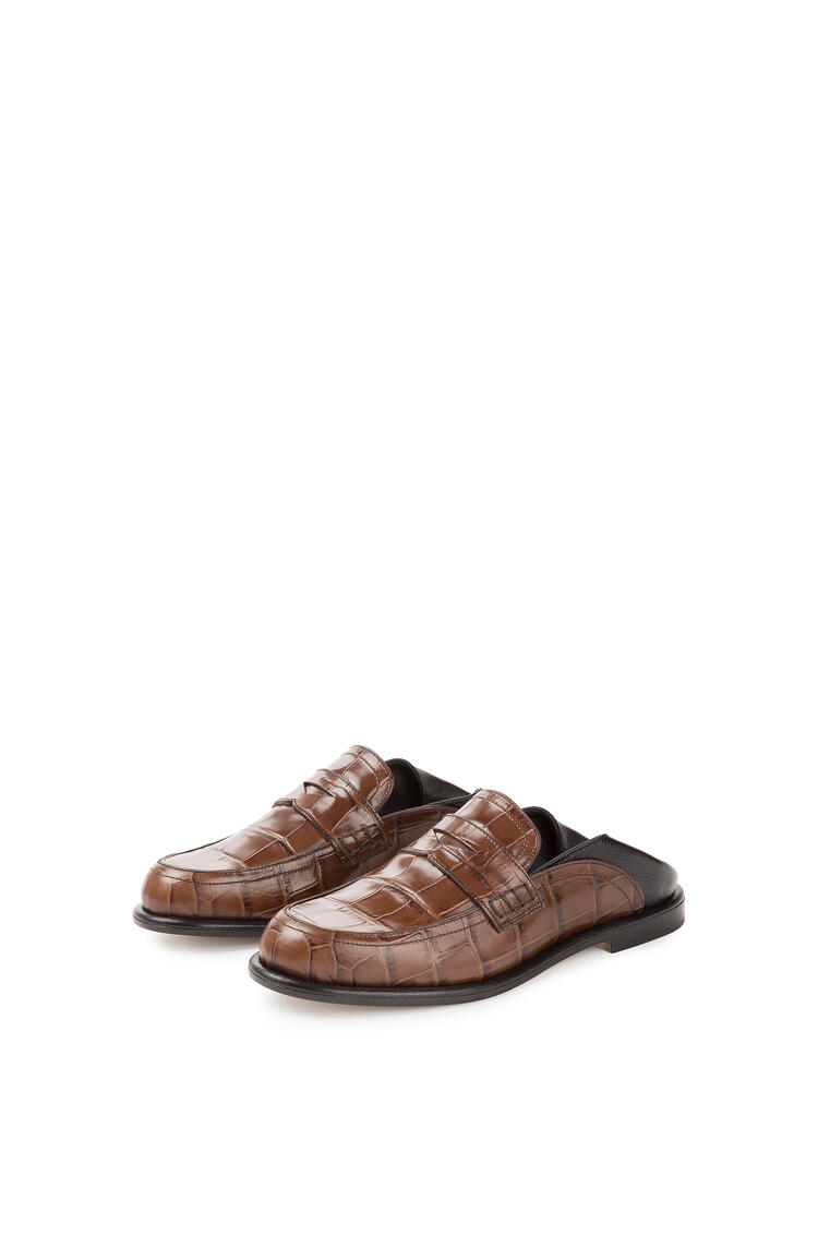 LOEWE Slip on loafer in calfskin Brown/Black pdp_rd