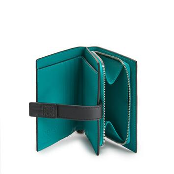 LOEWE Compact Zip Wallet Azul Laguna Oscuro front