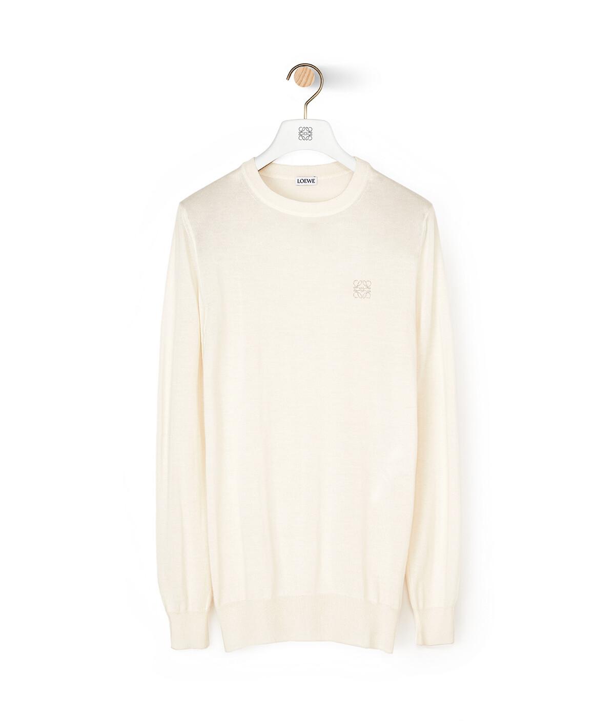 LOEWE Anagram Sweater Ecru front