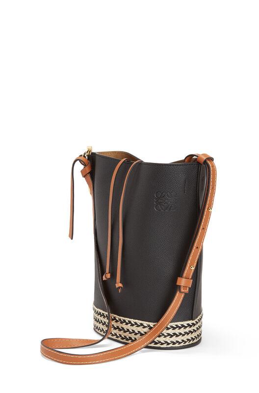 LOEWE Gate Bucket Espadrillas Bag Black front