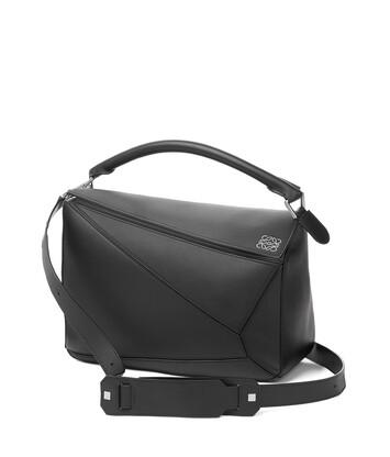 5af0fa25601f LOEWE Puzzle Large Bag Black front