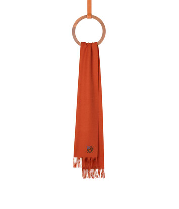 LOEWE 35X170 Anagram Scarf 橘 front