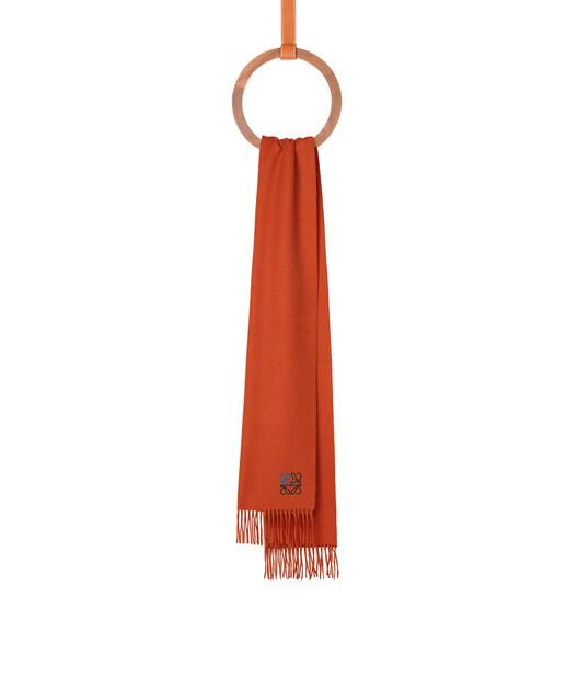 LOEWE 35X170 アナグラム スカーフ オレンジ front