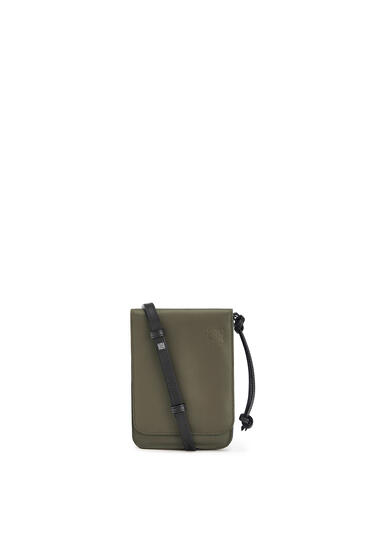 LOEWE Flat Gusset Crossbody bag in smooth calfskin Khaki Green pdp_rd