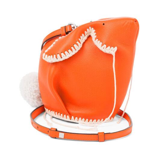 LOEWE Bunny Macrame Mini Bag Orange/White all