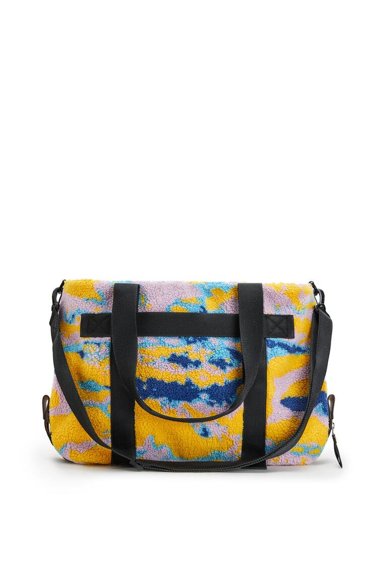 LOEWE Tote Bag In Camo Fleece And Canvas Multicolor pdp_rd