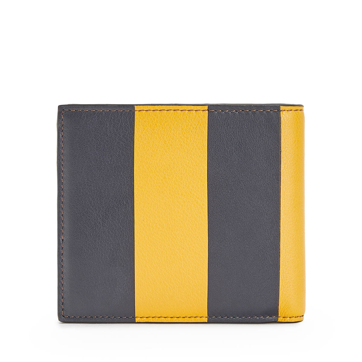 LOEWE Billetero Stripes Amarillo Mango/Marine Azul front