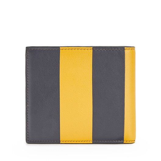 LOEWE Stripes Bifold Wallet Yellow Mango/Marine front
