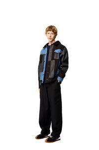 LOEWE Jacket in patchwork denim and shearling Multicolor pdp_rd