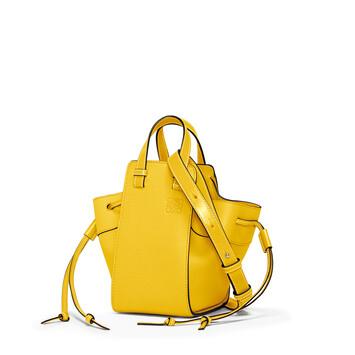 LOEWE Hammock Drawstring Mini Bag Yellow front