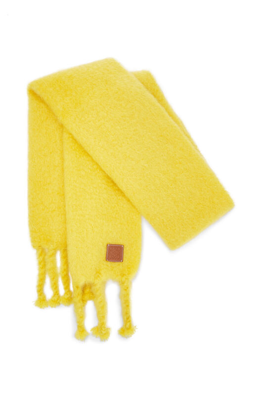 LOEWE 45X230 Scarf Plain Yellow front