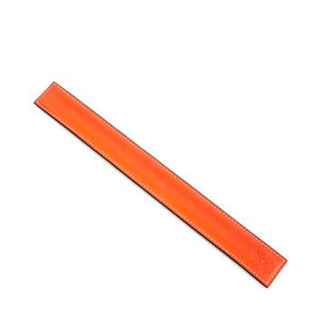LOEWE Small Slap Bracelet In Classic Calfskin Neon Orange front