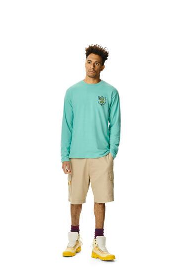 LOEWE Long Sleeve T-shirt In Cotton Mint Green pdp_rd