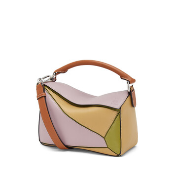 LOEWE Bolso Puzzle Pequeño Lila/Oro front
