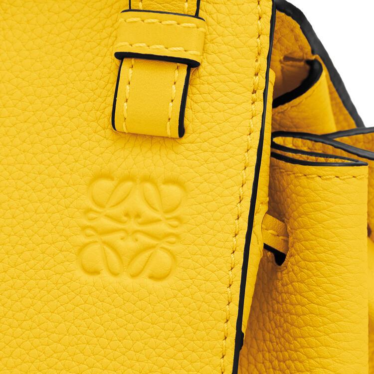 LOEWE Mini Hammock Drawstring bag in soft grained calfskin Yellow pdp_rd