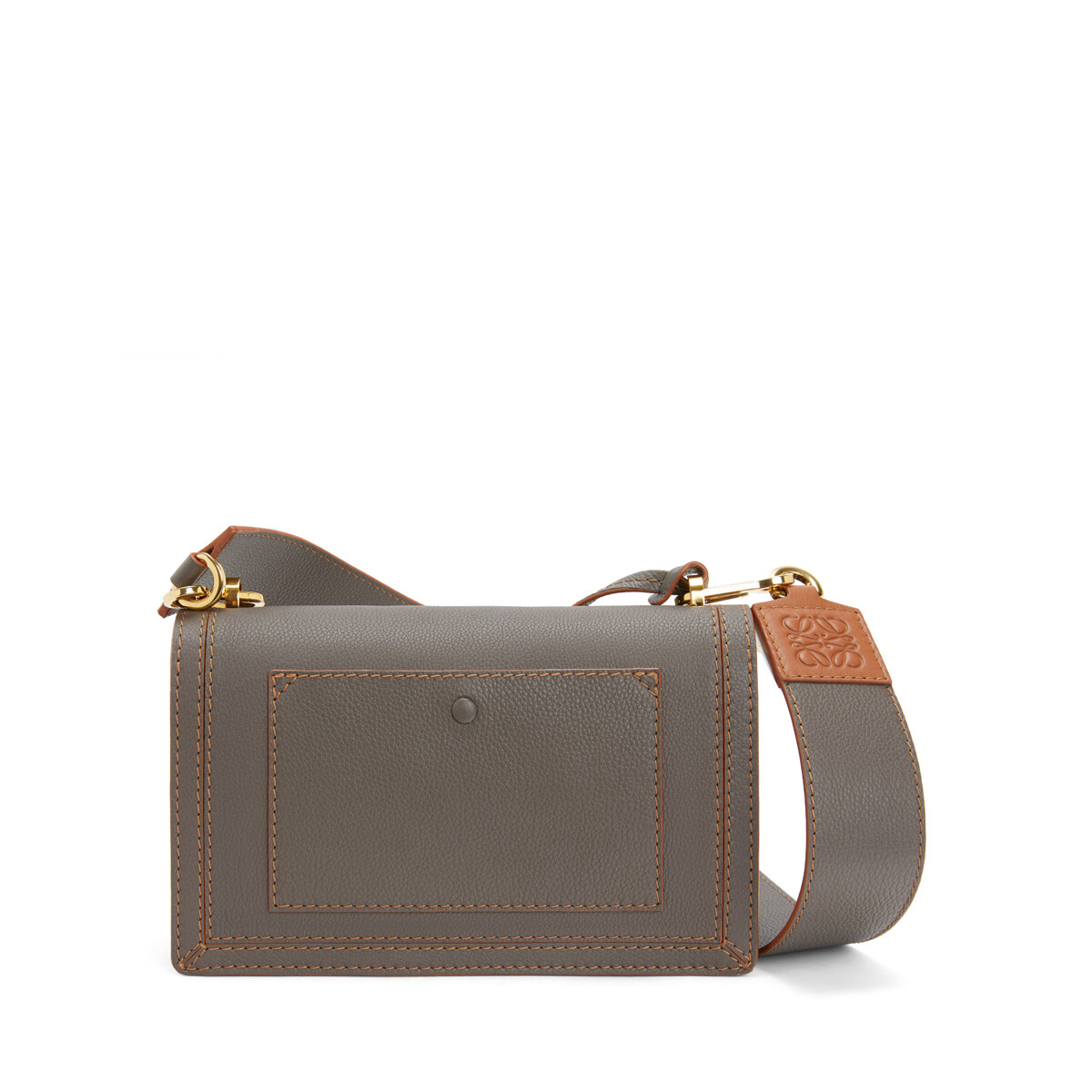 LOEWE Bolso Barcelona Soft Topo Oscuro front