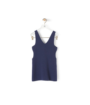 LOEWE Cut Out Tank Top Marino front