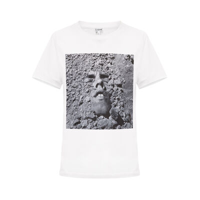 LOEWE T-Shirt David W Face White front