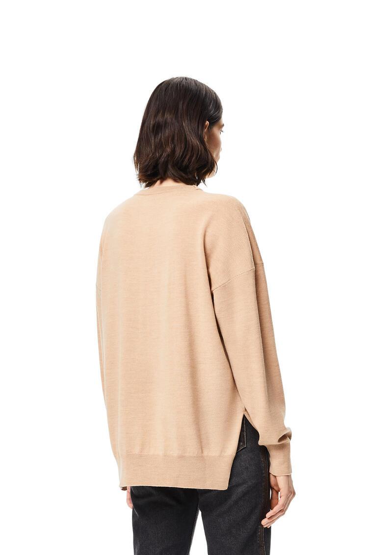 LOEWE Jersey en lana con La Palme bordado Camel pdp_rd