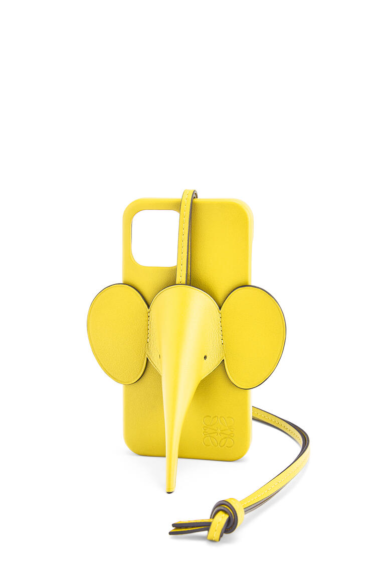 LOEWE Elephant phone cover in calfskin for iPhone 12 Pro Max Yellow pdp_rd