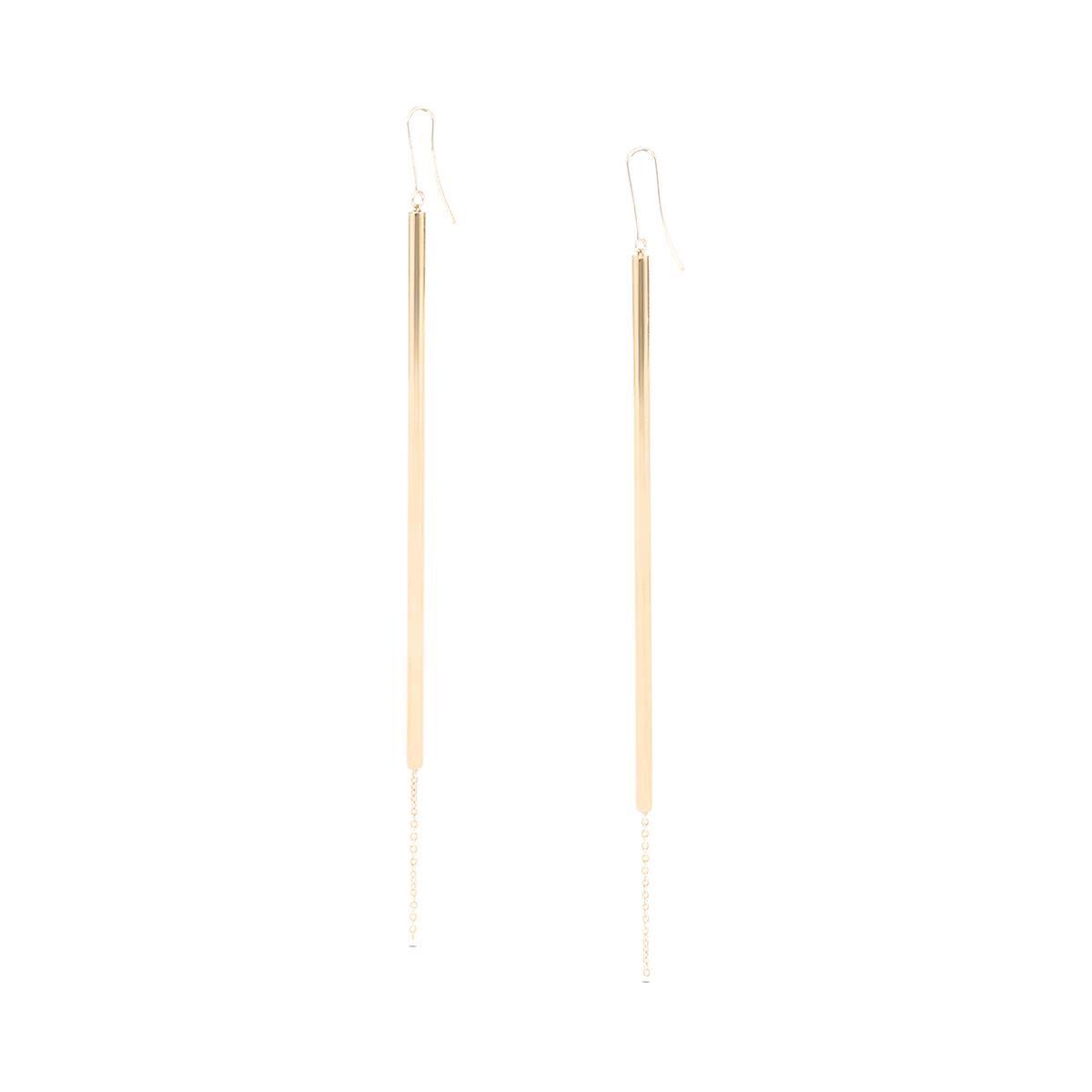 LOEWE Stick Earrings Gold front