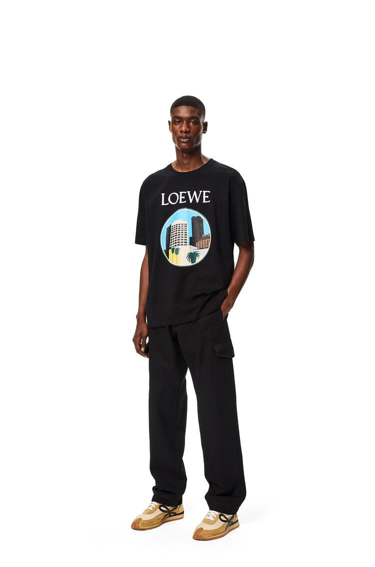 LOEWE Camiseta en algodón L.A. Series Negro pdp_rd