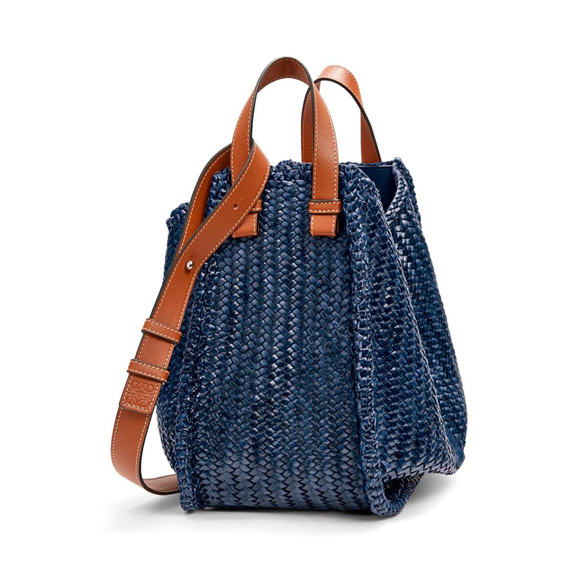 LOEWE Hammock Woven Medium Bag Navy Blue front