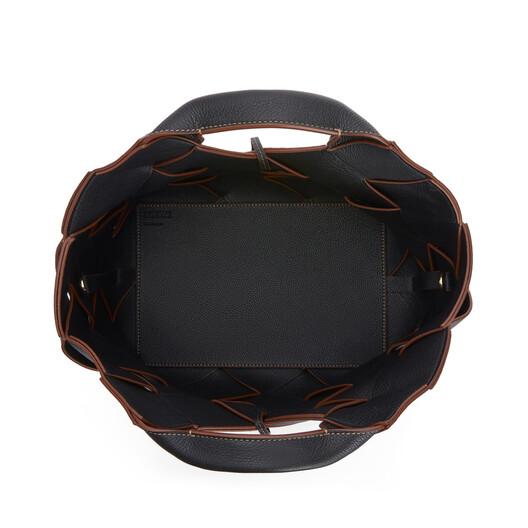 LOEWE Basket 编织包 黑色/棕褐色 front