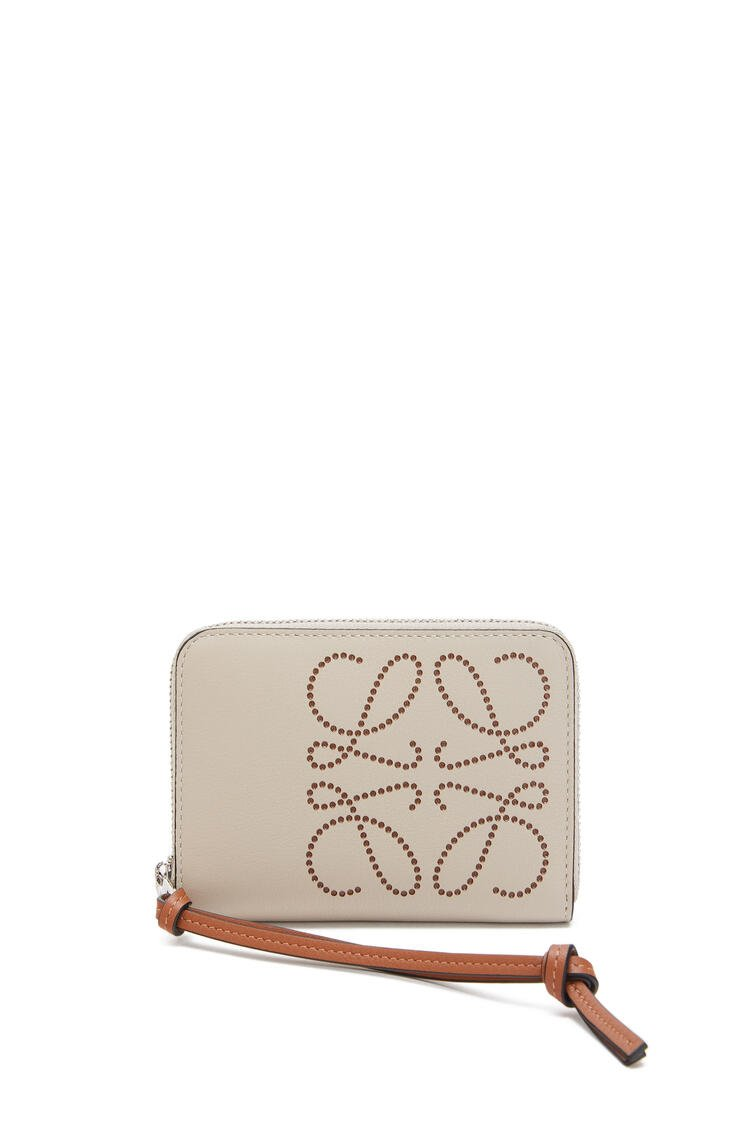 LOEWE Brand zip 6 card holder in calfskin Light Oat/Tan pdp_rd