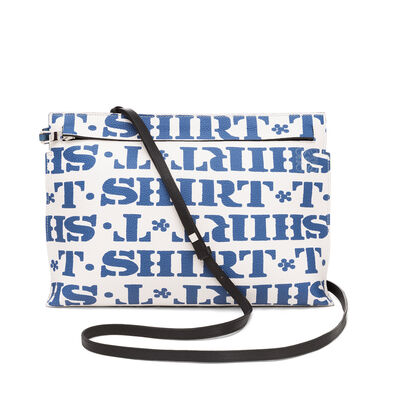 LOEWE T Pouch T Shirt Bag Soft White/Varsity Blue front