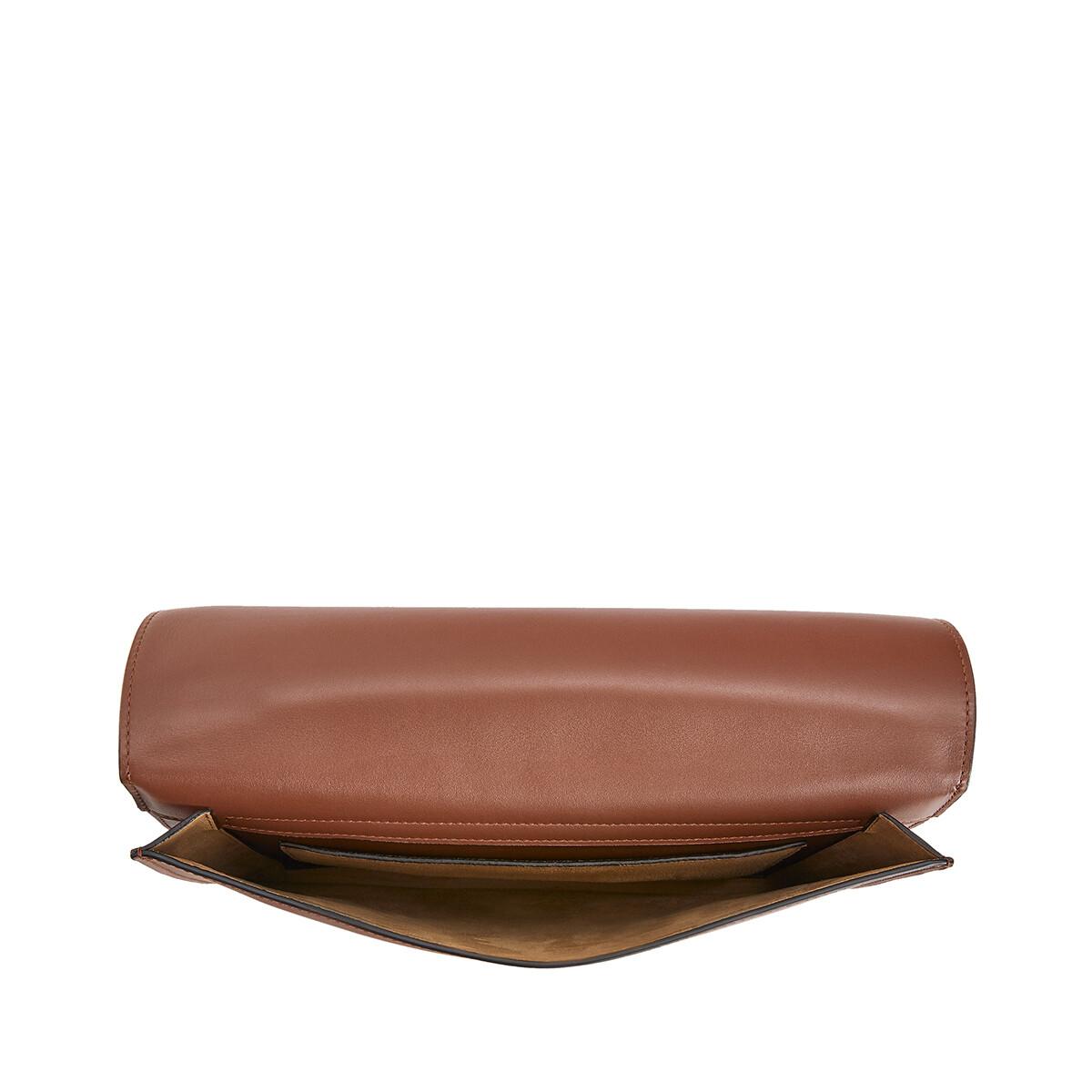 LOEWE Gusset Flat Messenger Bag Cognac front