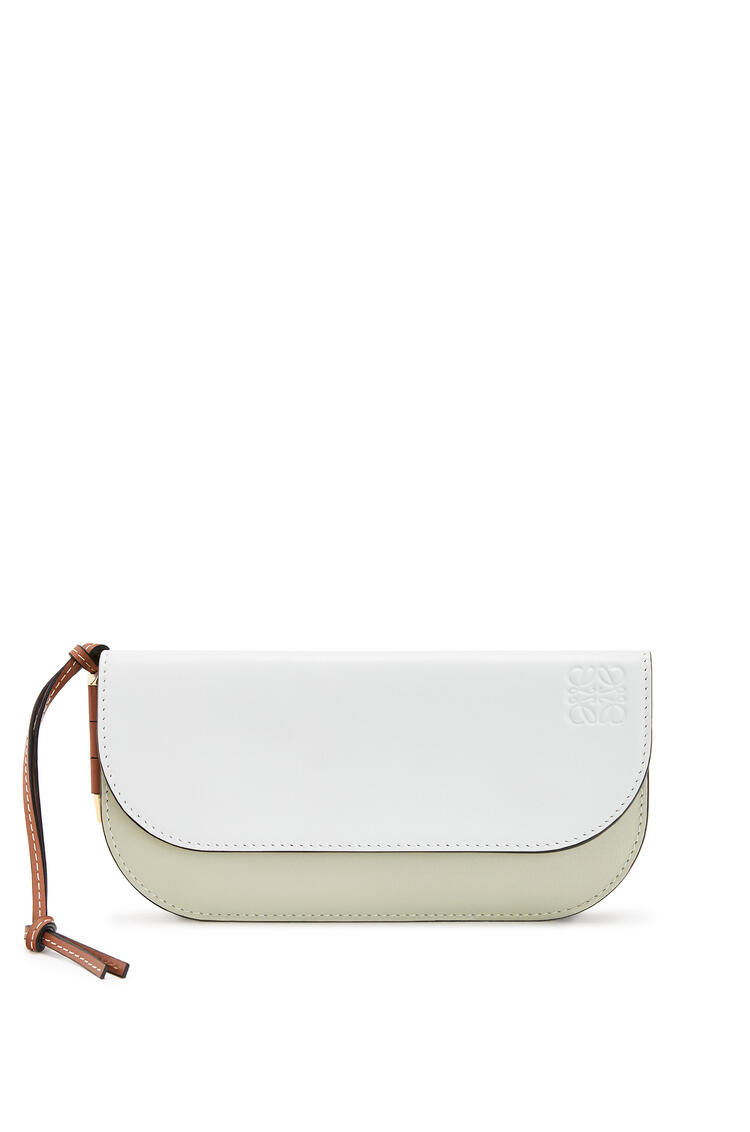 LOEWE Gate Continental wallet in smooth calfskin Kaolin/Sage pdp_rd