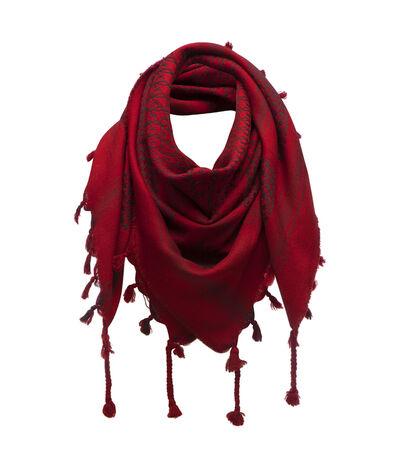 LOEWE 120X120 Scarf Keffiyeh Rojo front