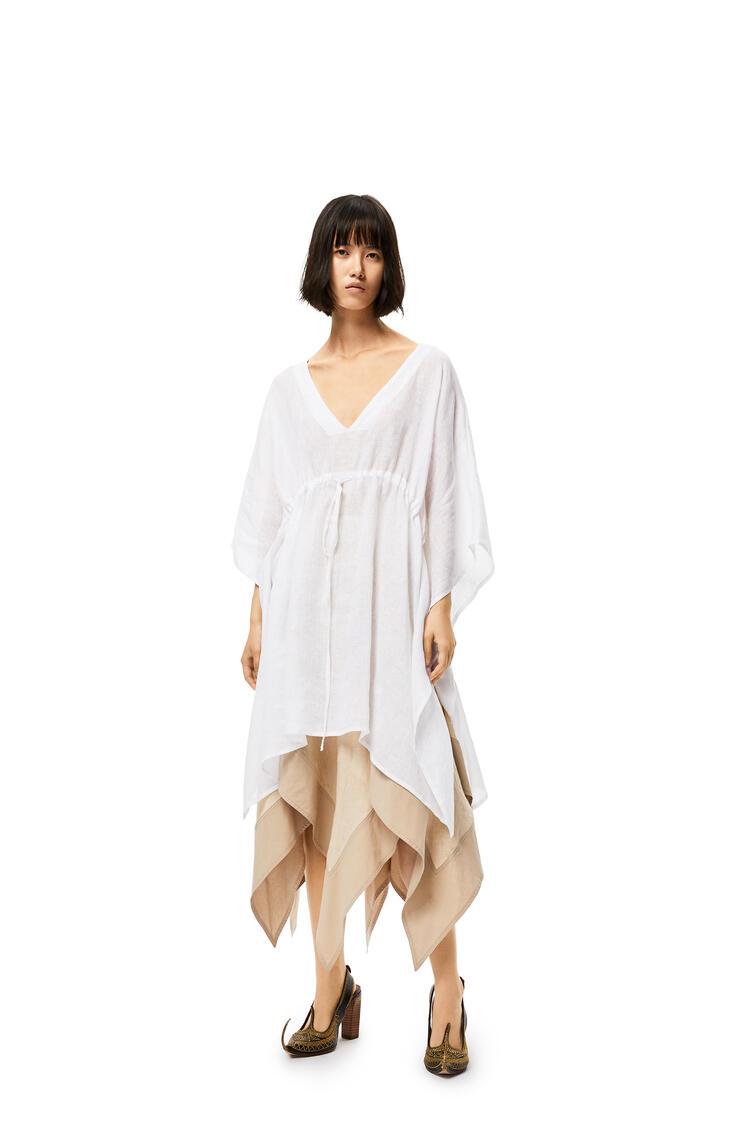 LOEWE Caftan-style Top In Linen White pdp_rd