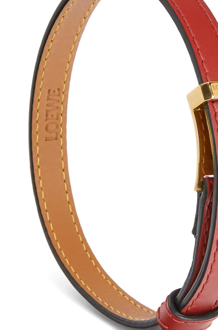 LOEWE Double bracelet in calfskin Pomodoro pdp_rd