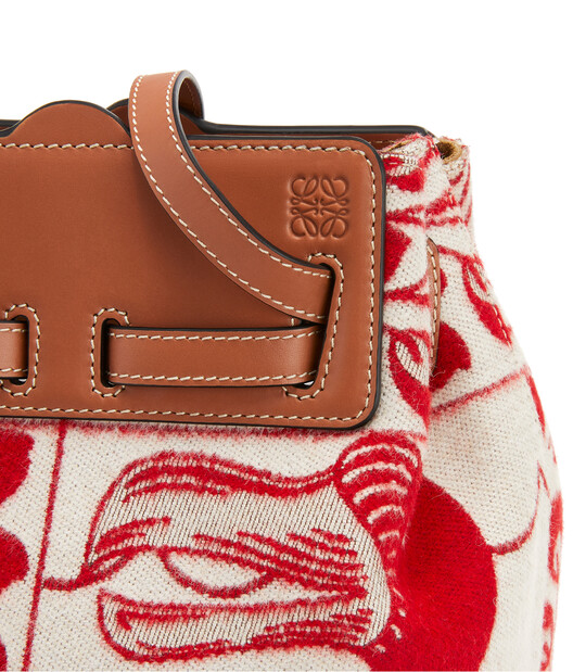 LOEWE Lazo Bucket Tiles Red front