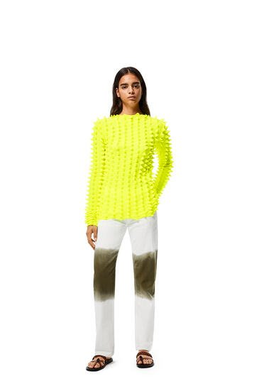 LOEWE 3D knitted sweater in polyester Yellow Lemon pdp_rd