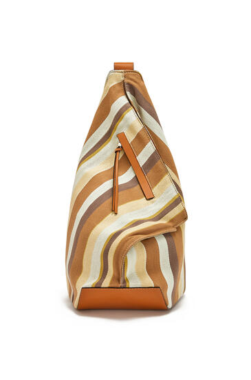 LOEWE Small Anton Backpack In Canvas And Calfskin Honey/Multicolor pdp_rd