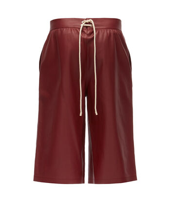 LOEWE Flap Pocket Shorts Burgundy front