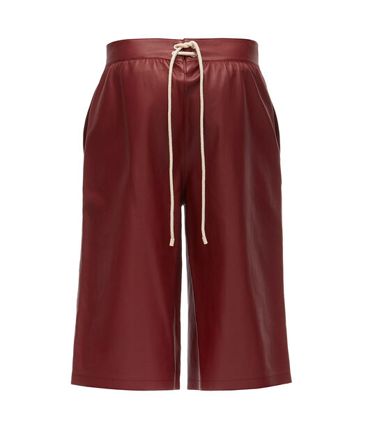 LOEWE Flap Pocket Shorts 酒红色 front