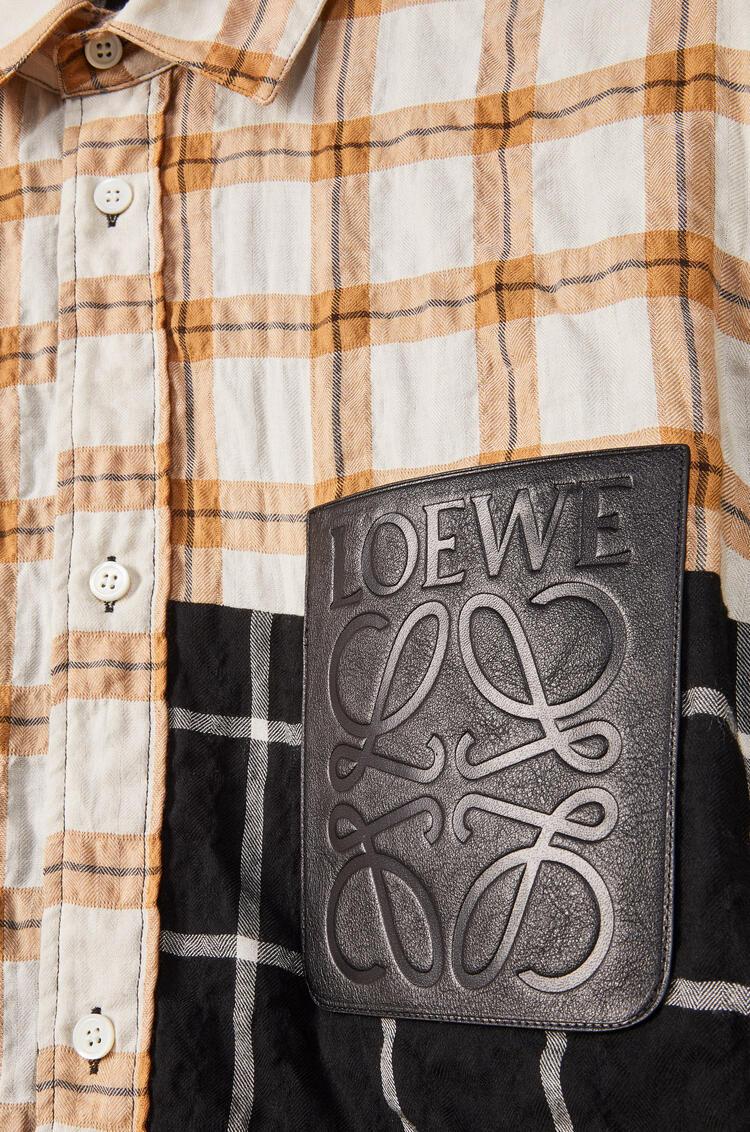 LOEWE 棉质莫代尔格纹衬衫外套 多色拼接 pdp_rd