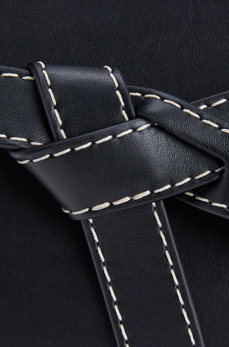 LOEWE Mini Gate Top Handle bag in natural calfskin Black pdp_rd
