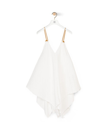 LOEWE Tank Pleated Top White front