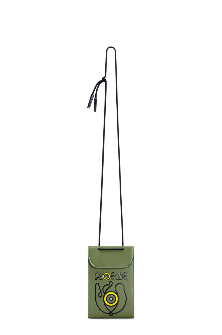 LOEWE Neck Pocket in classic calfskin Khaki Green pdp_rd