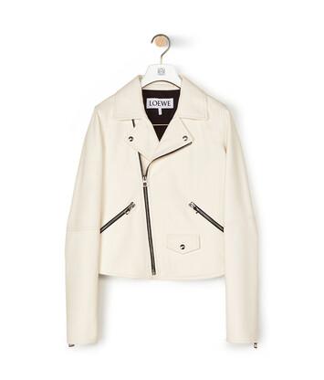LOEWE Biker Jacket ホワイト front