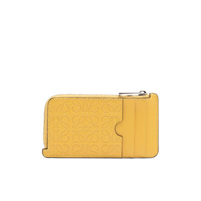 LOEWE Coin/Card Holder Yellow Mango front