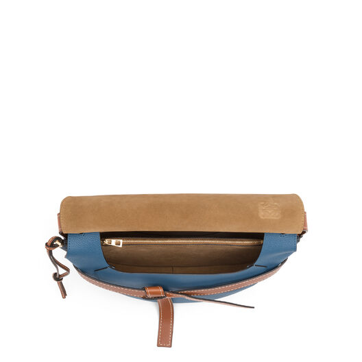 LOEWE Gate Bag Varsity Blue/Pecan Color all