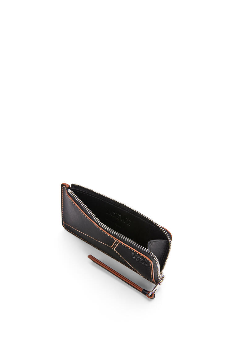 LOEWE Puzzle coin cardholder in smooth calfskin Black pdp_rd
