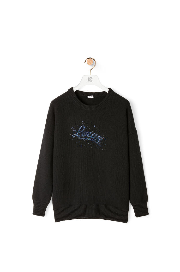 LOEWE LOEWE beads sweater in wool Black pdp_rd