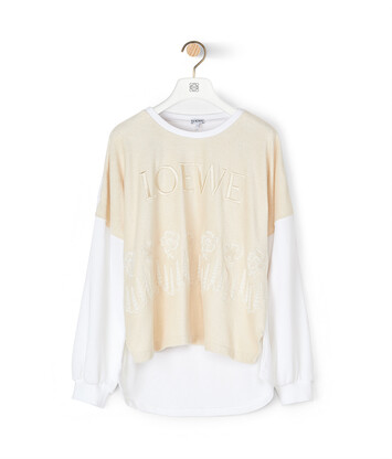 LOEWE Embroidered Sweatshirt Ecru/White front